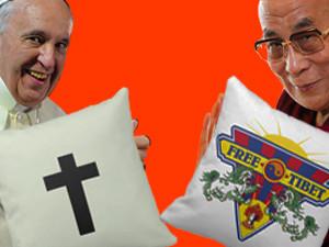 Paus en Dalai Lama beter